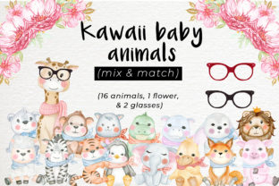 Print on Demand: Kawaii Baby Animal Illustration Graphic Illustrations By OrchidArt