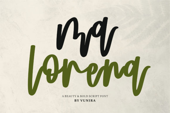 Print on Demand: Ma Lorena Script & Handwritten Font By Vunira