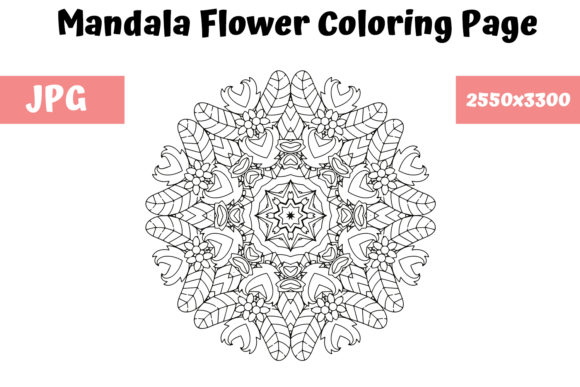 Print on Demand: Mandala Flower Coloring Page 20 Graphic Coloring Pages & Books Adults By MyBeautifulFiles