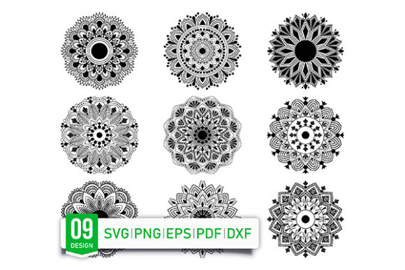 Print on Demand: Mandala Flower Coloring Page Vector Graphic Coloring Pages & Books Adults By dnezel