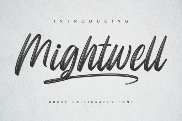 Print on Demand: Mightwell Script & Handwritten Font By Ditatype