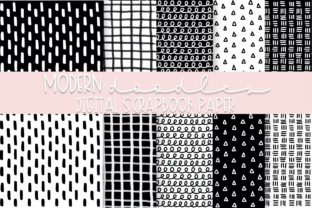 Print on Demand: Modern Doodles Digital Paper   Volume 1 Graphic Backgrounds By Fairways and Chalkboards