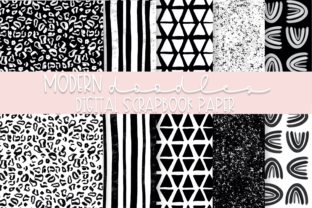Print on Demand: Modern Doodles Digital Paper   Volume 2 Graphic Backgrounds By Fairways and Chalkboards