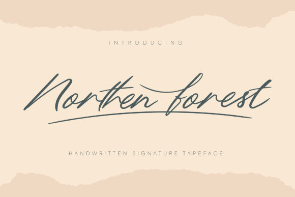 Print on Demand: Northern Forest Script & Handwritten Font By Vunira