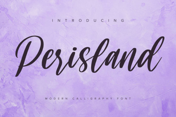 Print on Demand: Perisland Script & Handwritten Font By Ditatype