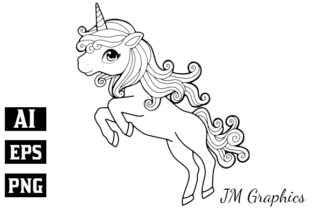 Print on Demand: Pink Magical Unicorn Clipart 2 Graphic Illustrations By JM_Graphics 2