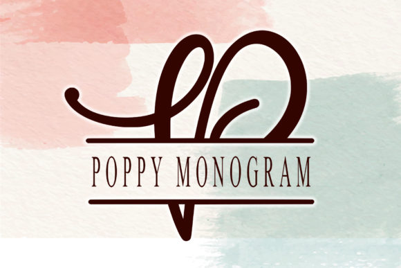 Print on Demand: Poppy Monogram Script & Handwritten Font By thomasaradea