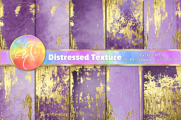 Purple Distressed Digital Paper Graphic Backgrounds By paperart.bymc