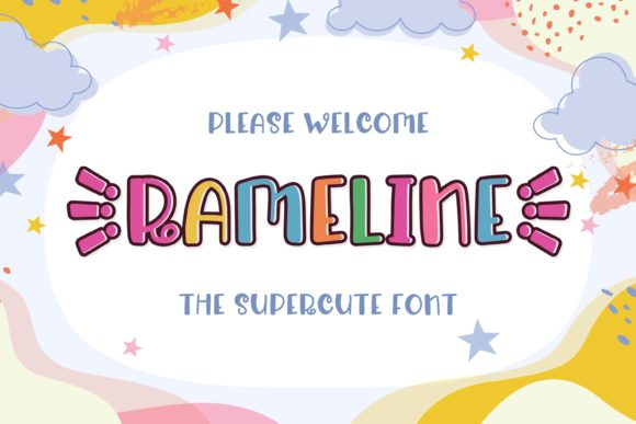 Print on Demand: Rameline Display Font By almarkhatype