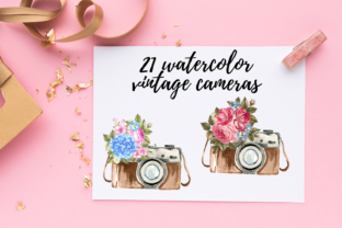 Retro Floral Vintage Camera Clipart Graphic Illustrations By Aneta Design