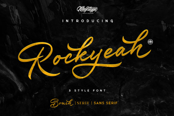 Print on Demand: Rockyeah Display Font By majestype