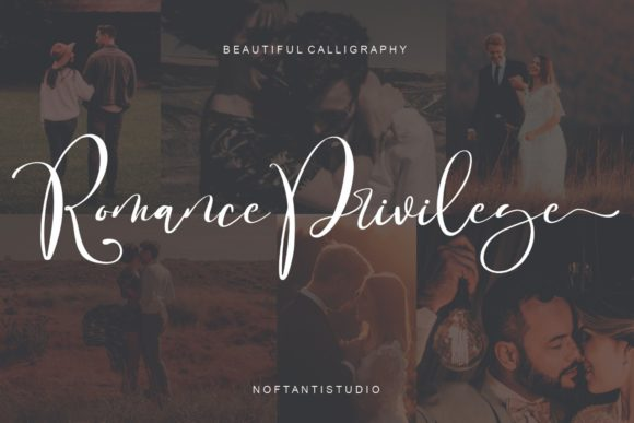 Print on Demand: Romance Privilege Script & Handwritten Font By noftanti