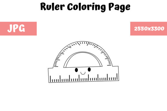 Print on Demand: Ruler Coloring Page for Kids 01 Graphic Coloring Pages & Books Kids By MyBeautifulFiles