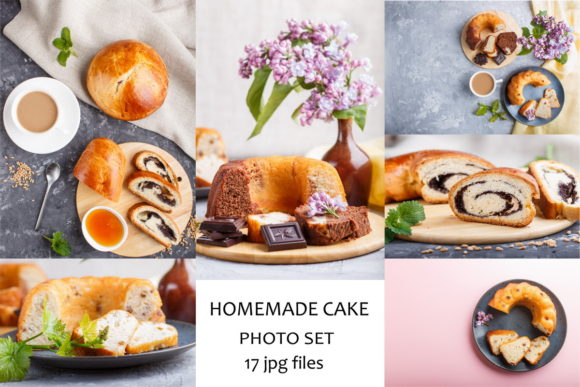 Set of Cakes with Poppy and Chocolate Graphic Food & Drinks By Uladzimir Zgurski Photos