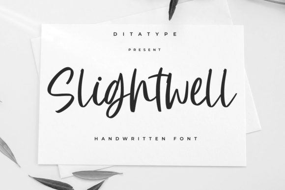 Print on Demand: Slightwell Script & Handwritten Font By Ditatype