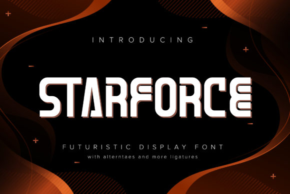 Print on Demand: Starforce Display Font By Vunira