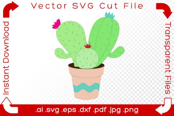 Print on Demand: Succulent Cactus SVG Plant - DIY Cartoon Graphic Crafts By iBearToo