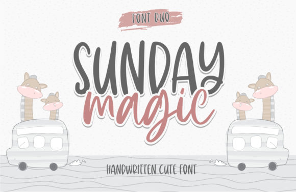 Print on Demand: Sunday Magic Script & Handwritten Font By Typefar