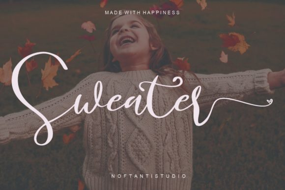 Print on Demand: Sweater Script & Handwritten Font By noftanti