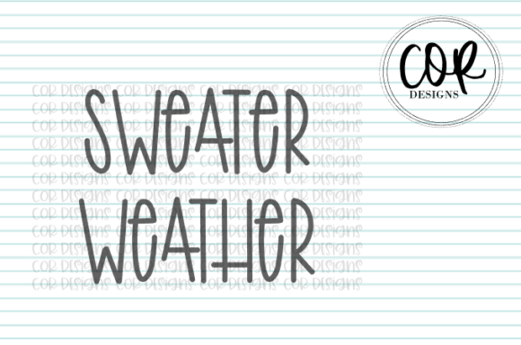 Print on Demand: Sweater Weather Graphic Crafts By designscor