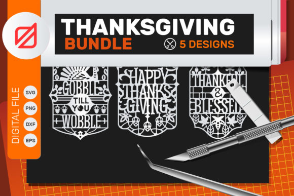Print on Demand: Thanksgiving Quote Cutting File Graphic Crafts By illusatrian