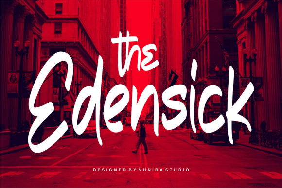 Print on Demand: The Edensick Script & Handwritten Font By Vunira