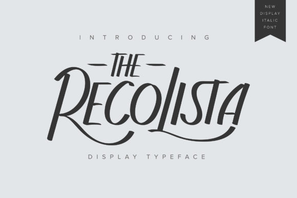 Print on Demand: The Recolista Display Font By Vunira