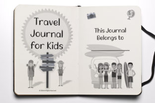 Print on Demand: Travel Journal for Kids KDP Graphic Print Templates By anatarouca