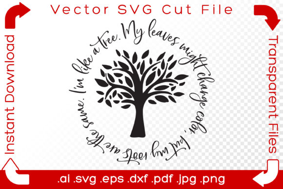 Print on Demand: Tree Quote Word Art Cut File Graphic Illustrations By iBearToo