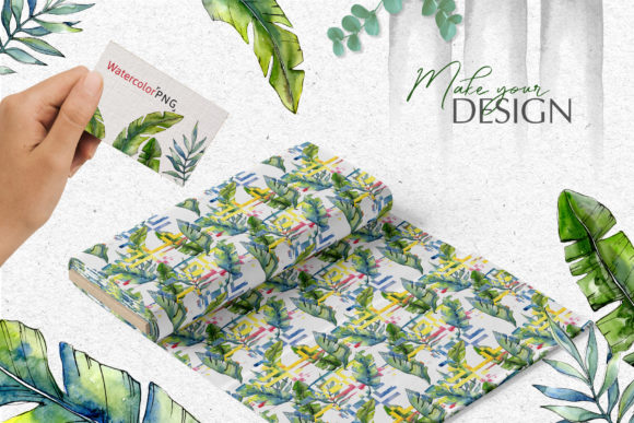 tropical forest watercolor png graphic by mystocks creative fabrica tropical forest watercolor png