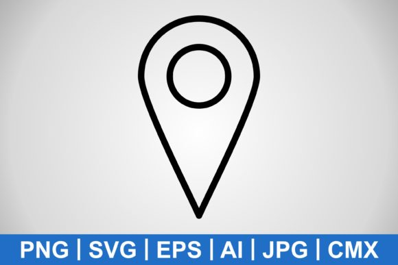 Print on Demand: Vector Location Icon Graphic Icons By IYIKON