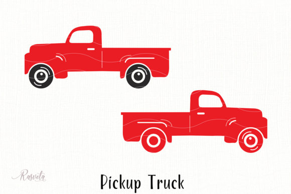 Vintage Pickup Old Farm Truck Clipart Graphic Illustrations By Rasveta