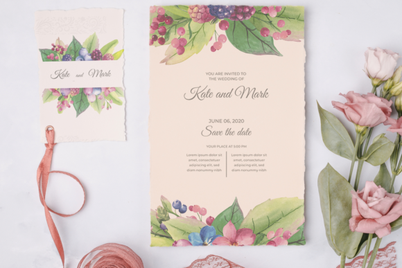 Watercolor Greenery Frames Clipart Graphic Illustrations By colours_of_wind