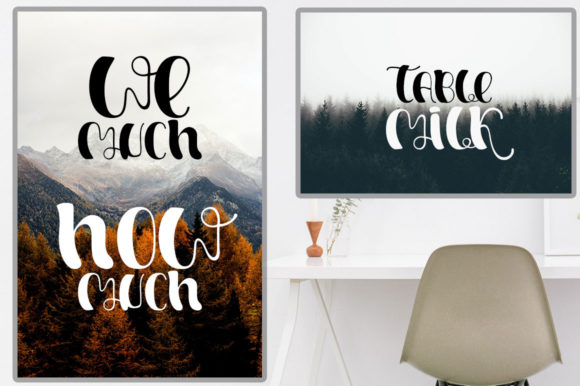 Welcome Autumn Font Design