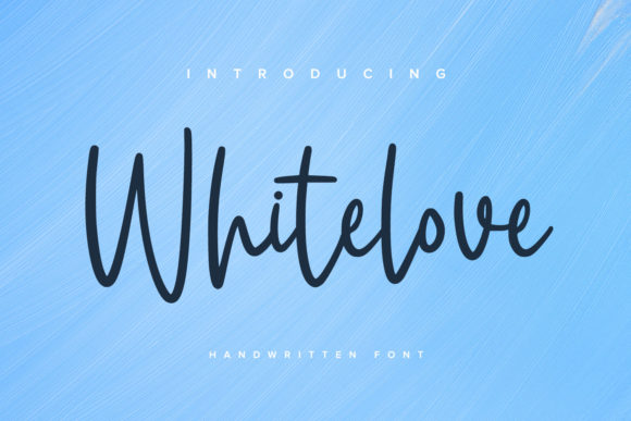 Print on Demand: Whitelove Script & Handwritten Font By Ditatype