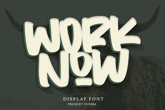 Print on Demand: Worknow Display Font By Vunira