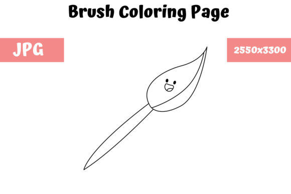 Print on Demand: Brush Coloring Page for Kids Graphic Coloring Pages & Books Kids By MyBeautifulFiles
