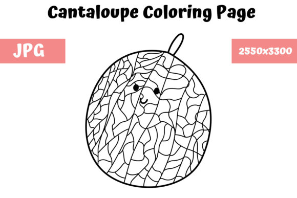 Print on Demand: Cantaloupe Coloring Page for Kids Graphic Coloring Pages & Books Kids By MyBeautifulFiles