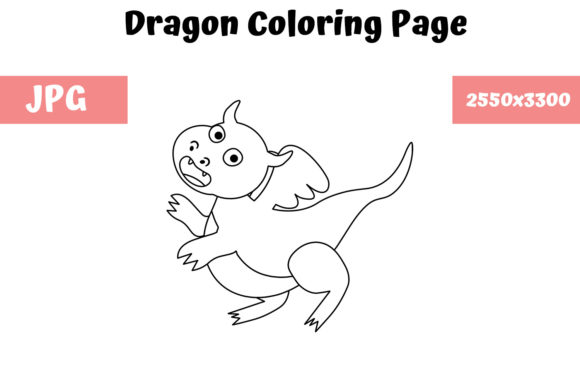 Print on Demand: Dragon Coloring Page for Kids 05 Graphic Coloring Pages & Books Kids By MyBeautifulFiles