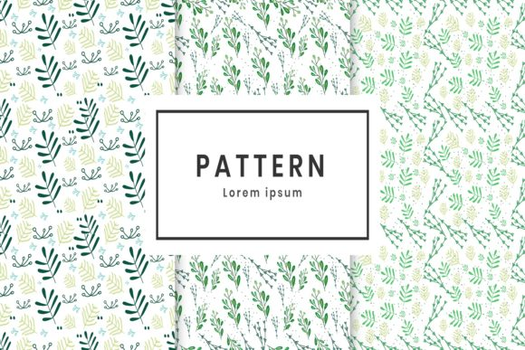 Print on Demand: Green Plant Pattern Graphic Patterns By hai hai