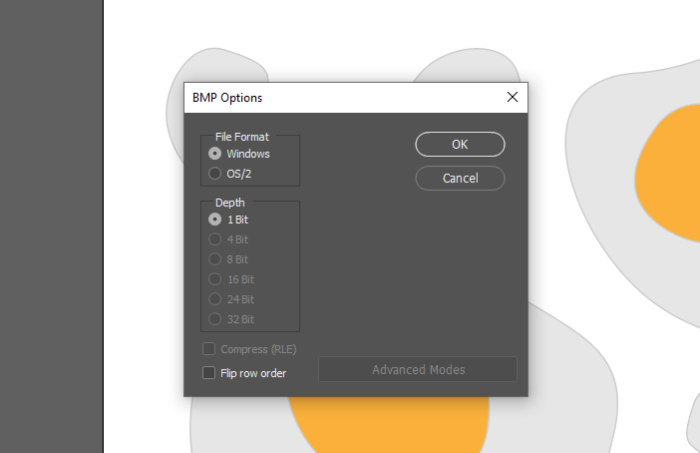 how to export BMP on Illustrator