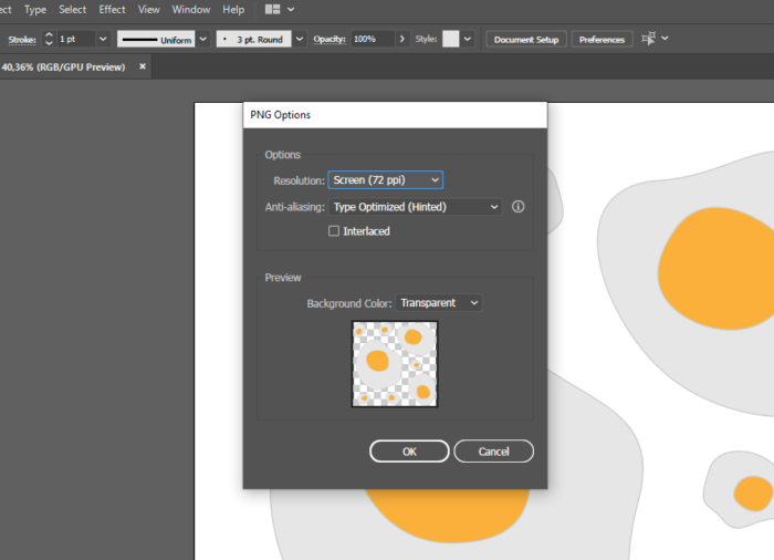 how to export PNG on Illustrator