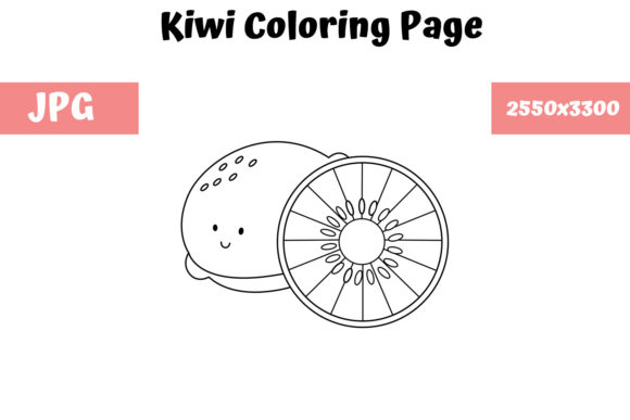 Print on Demand: Kiwi Coloring Page for Kids Graphic Coloring Pages & Books Kids By MyBeautifulFiles