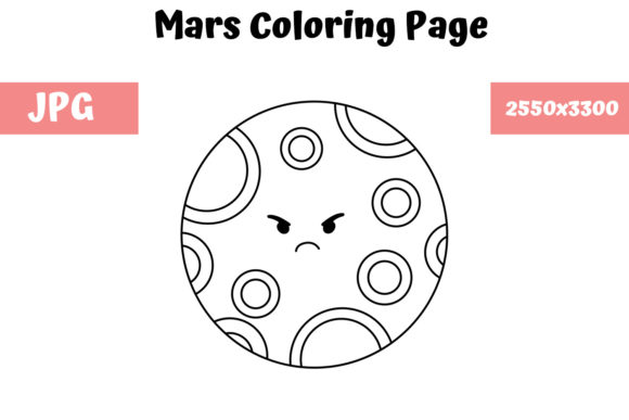 Print on Demand: Mars Coloring Page for Kids Graphic Coloring Pages & Books Kids By MyBeautifulFiles