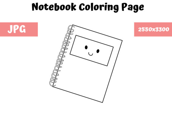 Print on Demand: Notebook Coloring Page for Kids Graphic Coloring Pages & Books Kids By MyBeautifulFiles
