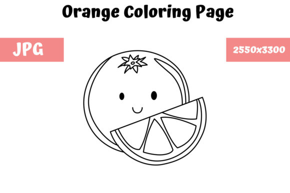 Print on Demand: Orange Coloring Page for Kids Graphic Coloring Pages & Books Kids By MyBeautifulFiles