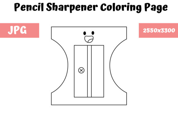 Print on Demand: Pencil Sharpener Coloring Page for Kids Graphic Coloring Pages & Books Kids By MyBeautifulFiles