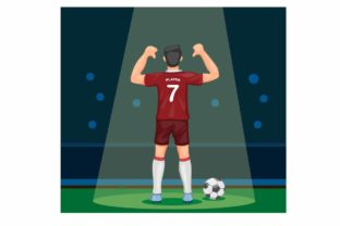 Print on Demand: Soccer Player Scoring Goal Celebration Graphic Illustrations By aryo.hadi