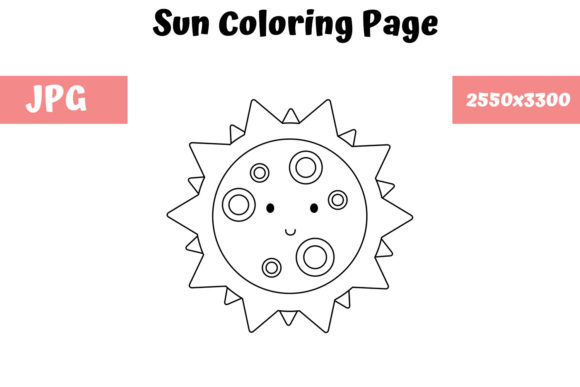 Print on Demand: Sun Coloring Page for Kids Graphic Coloring Pages & Books Kids By MyBeautifulFiles