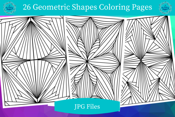 26 Geometric Lines Coloring Pages Graphic Coloring Pages & Books Adults By The Artsy Designer